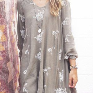 Altar'd State Floral Embroidered Dress Size M